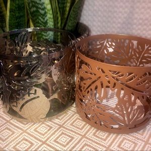 BBW | Lot of 2 fall decorative candle holders